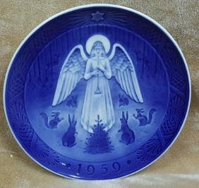 A Royal Copenhagen 1959 Christmas Xmas Plate
