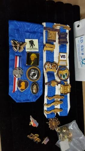 Collection of Gold Filled Pins / Awards