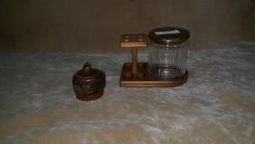 Vintage Pipe Stand & Tobacco Holders