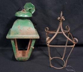 2- Wrought Iron Lantern Frames