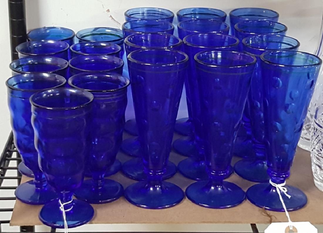 Vintage Cobalt Blue Pilsners and Parfait