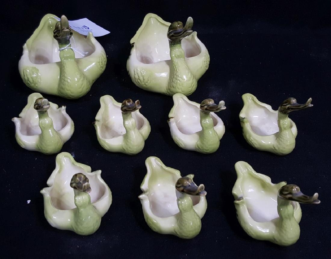 A Flock of Ducklings / Hull Pottery Duck Planters