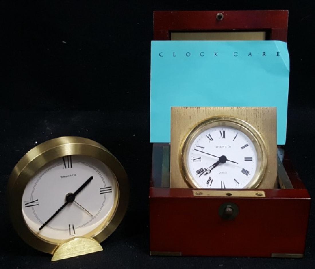 Tiffany & Co Swiss Quartz Desk Clocks