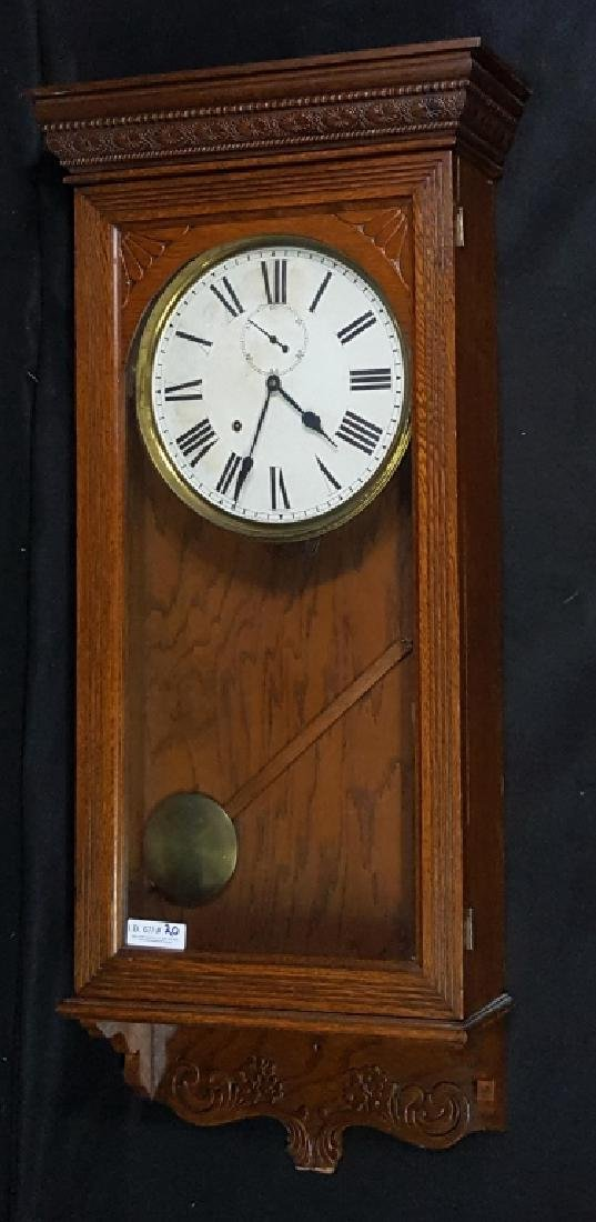 Large made in the USA Sessions Oak Wall Clock