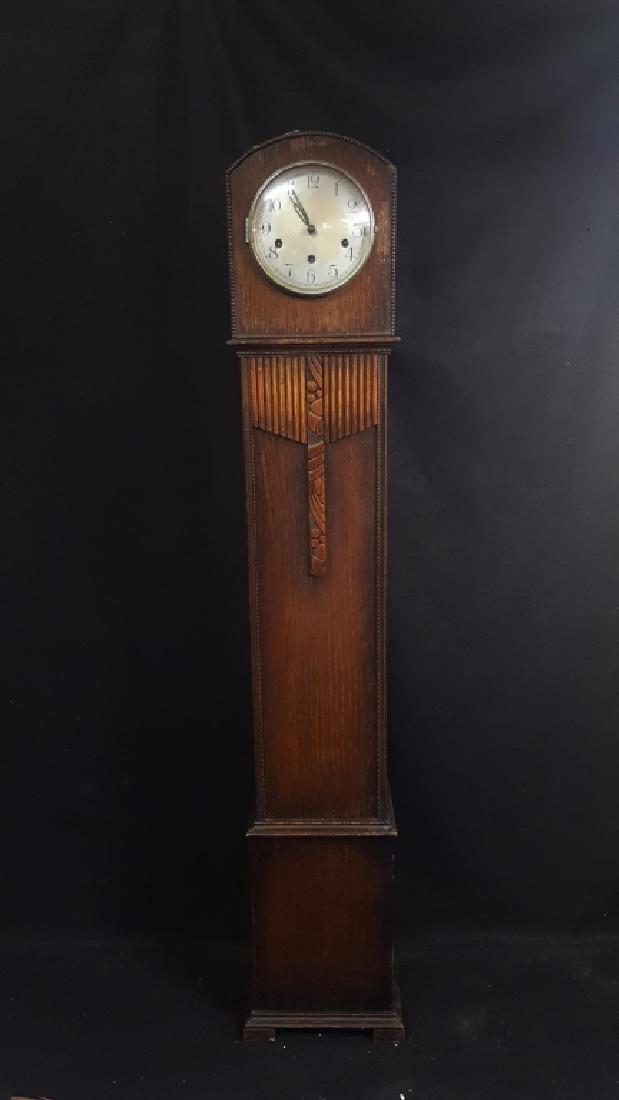 Antique Oak Granddaughter Clock