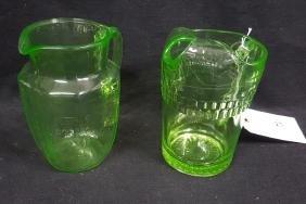 Uranium / Vaseline Glass Pitchers & Tumblers