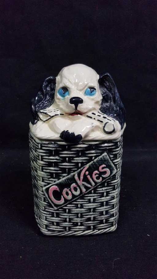 1950'S Cookie Jars Amazing 60's McCoy Basket Weave Dog Cookie Jar