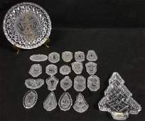(21) Piece Waterford Christmas Ornaments & Dishes