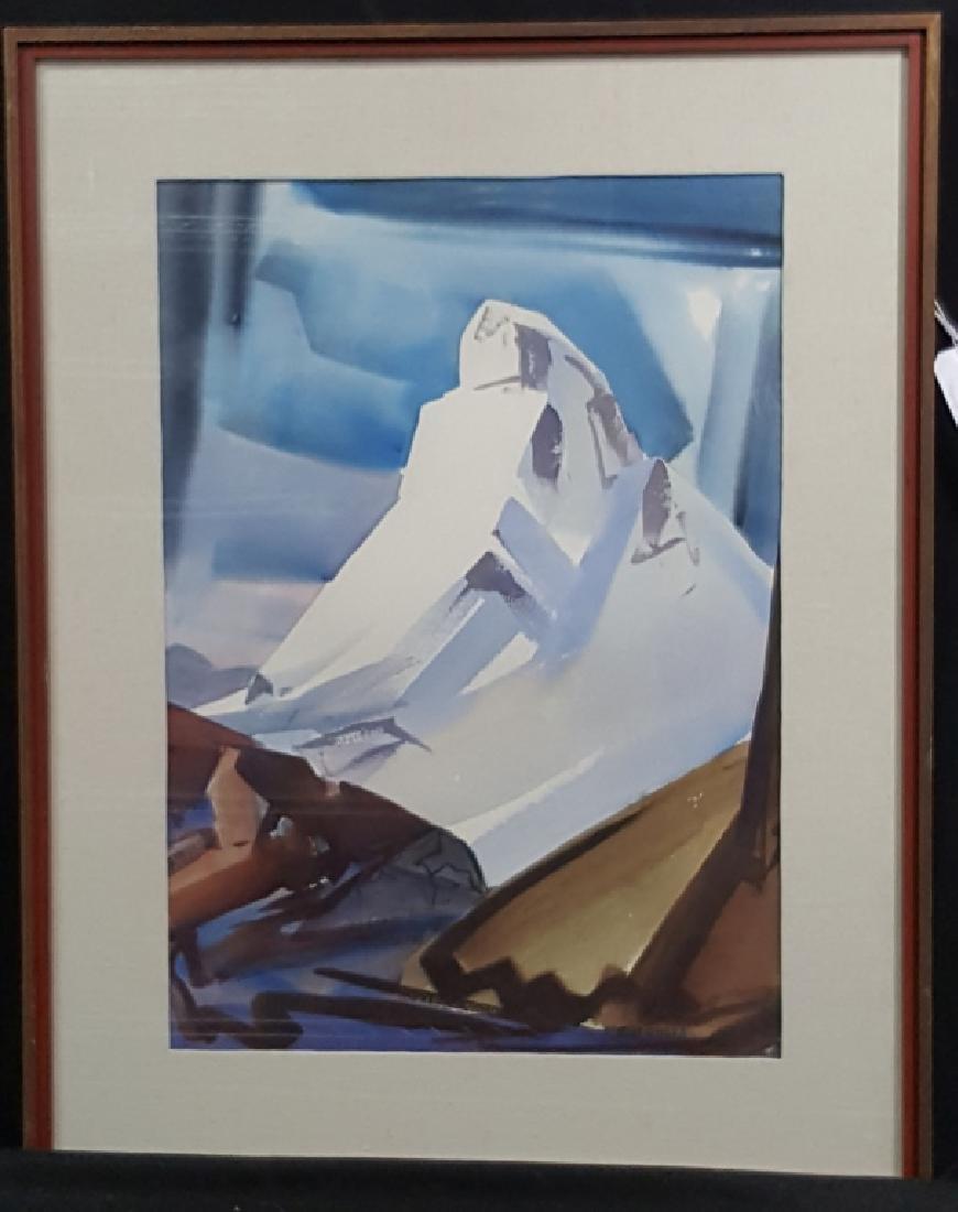 """Eliot O'Hara (1890-1969) """"Matterhorn"""" Watercolor"""