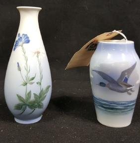 2 Royal Copenhagen Vases