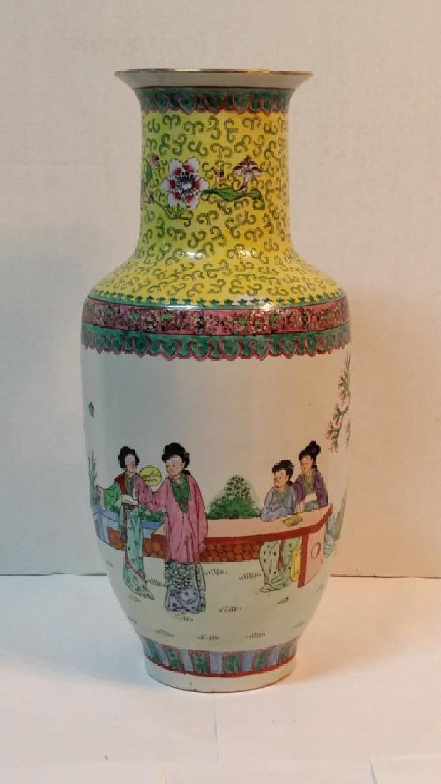 "A Chinese porcelain vase, 18"" tall."