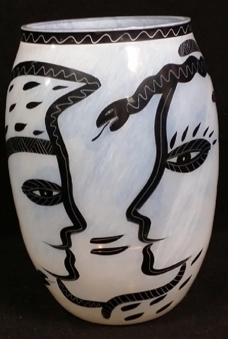 A Large Kosta Boda Art Glass Vase Ulrica