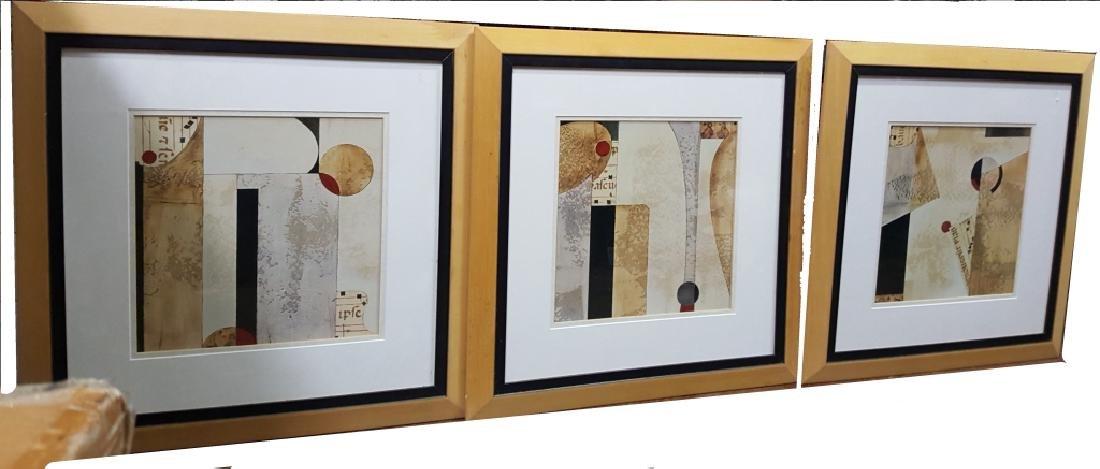 Set of (3) Modern Geometric Prints
