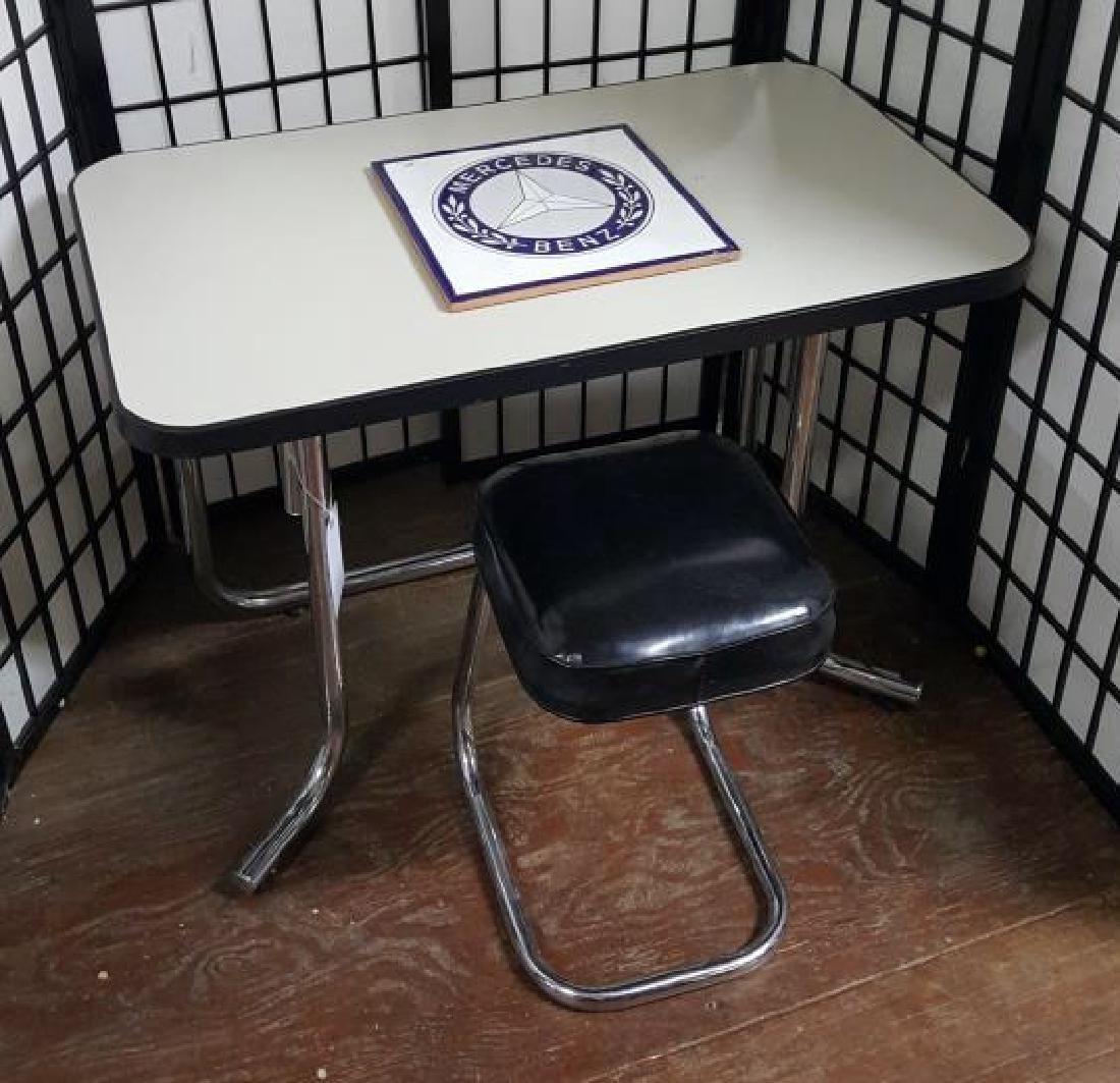 Mercedes-Benz Showroom Desk, Stool & Tile