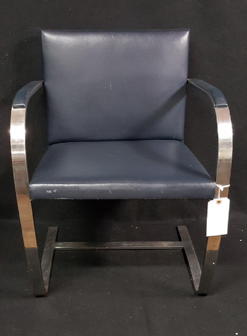Mid Century Modern Knoll Brno Flat Bar Side Chair