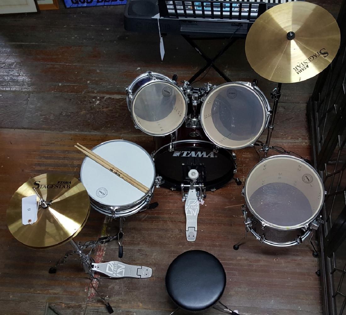 Stagestar Tama Burgandy-Red Wine 5 Piece Drum Set