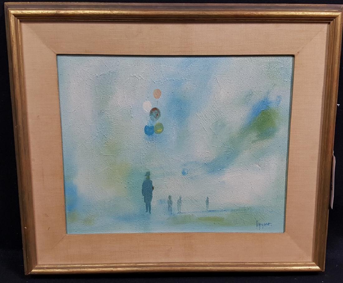 "Italian Abstract ""Balloon Man"" signed Vigigano"