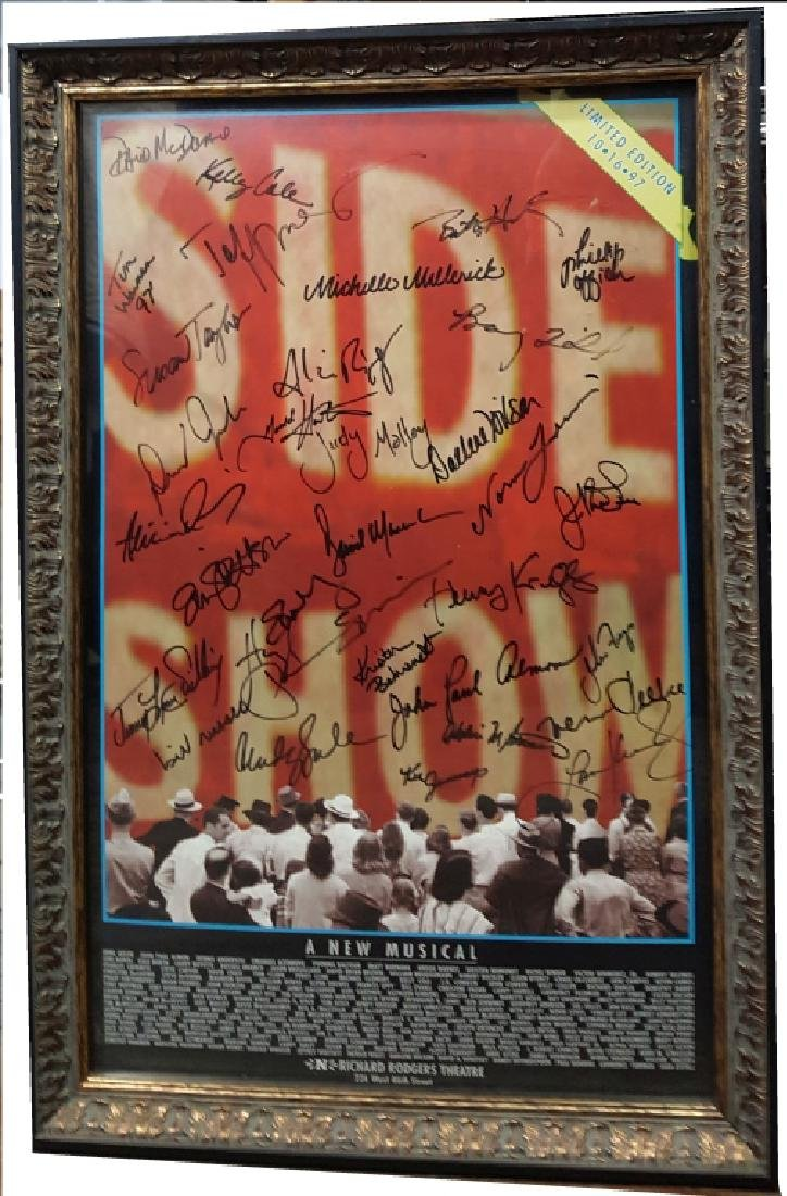 """Autographed Broadway Play Poster """"Side Show"""""""