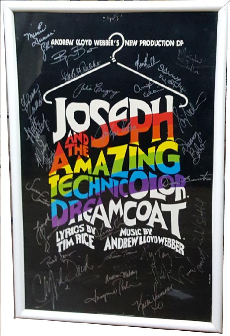 """Autographed """"Joseph and the Amazing ..."""" Poster"""