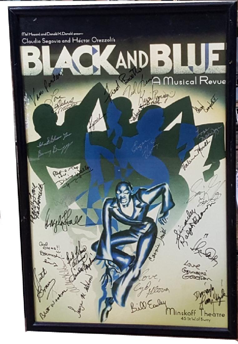 """Autographed """"Black & Blue A Musical Revue"""" Poster"""