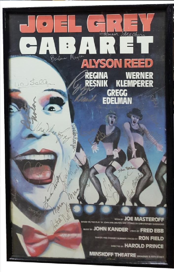 "Joel Grey ""Cabaret""- Autographed Broadway Poster"
