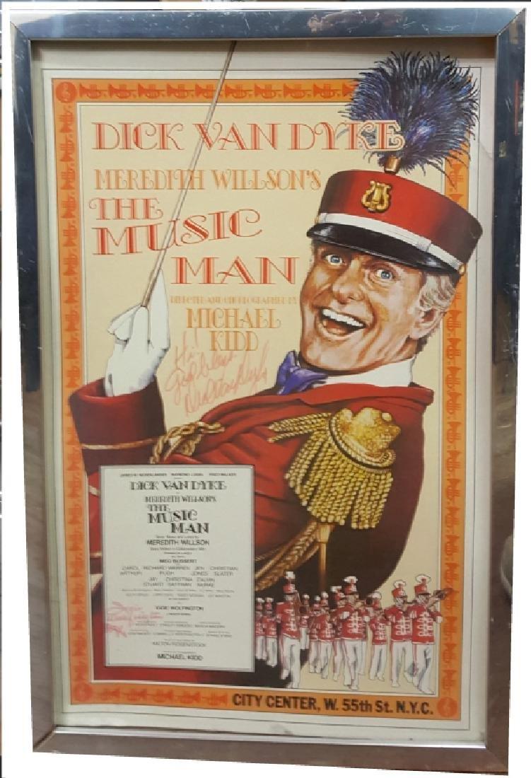 "Autographed Dick Van Dyke ""The Music Man"""