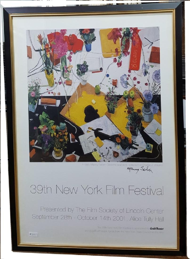 39th Annual NY Film Festival; Signed Manny Farber