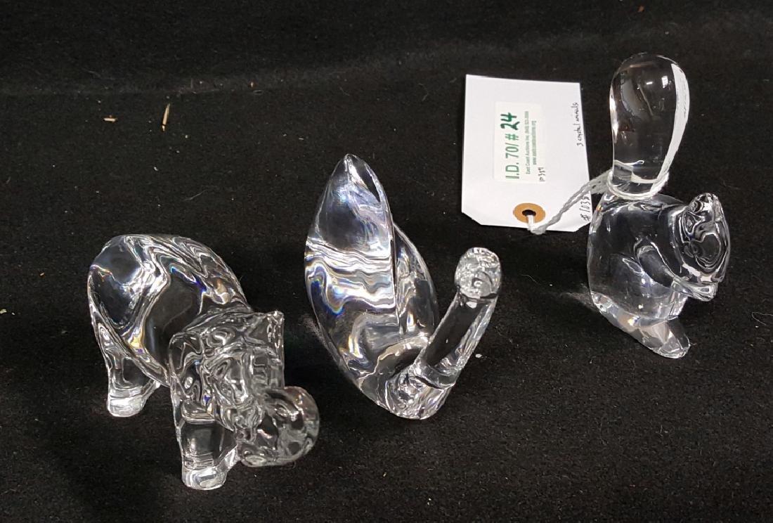 Baccarat Crystal Animals