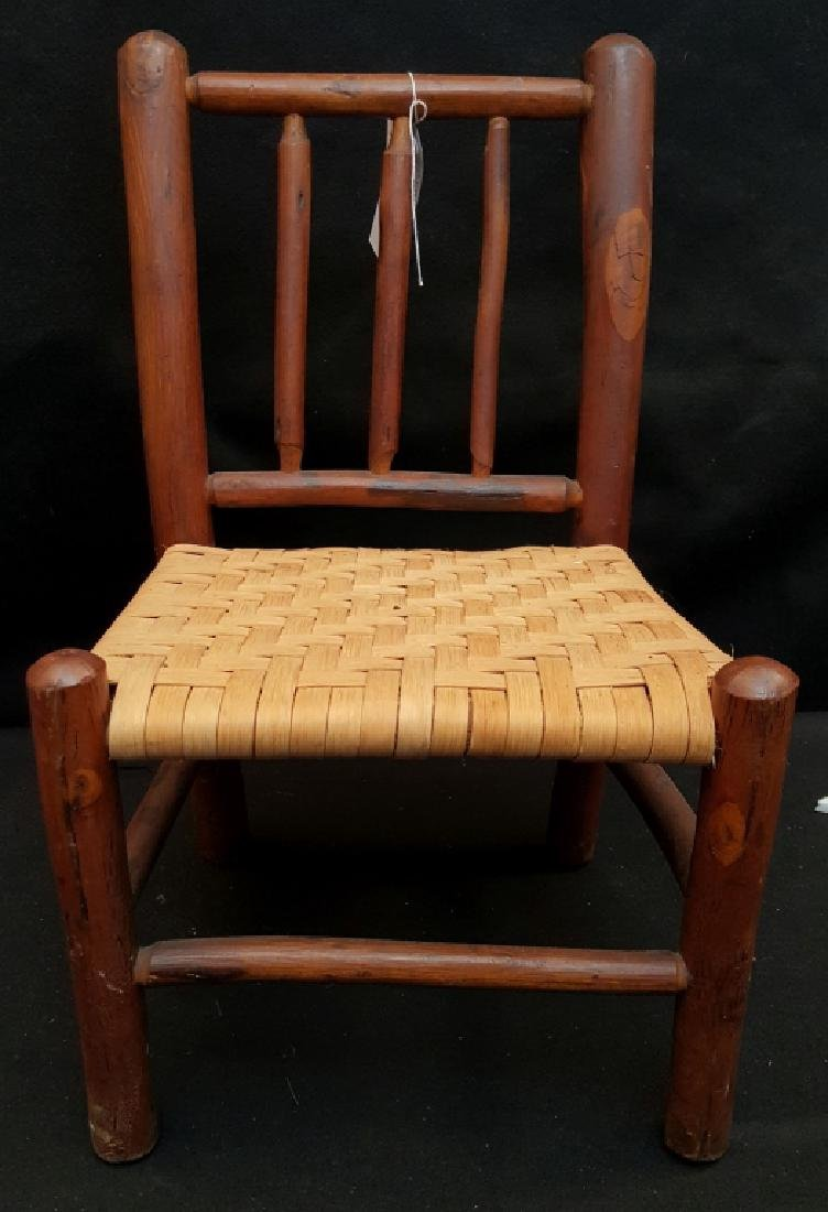 An Old Hickory Antique Vintage Child's Chair