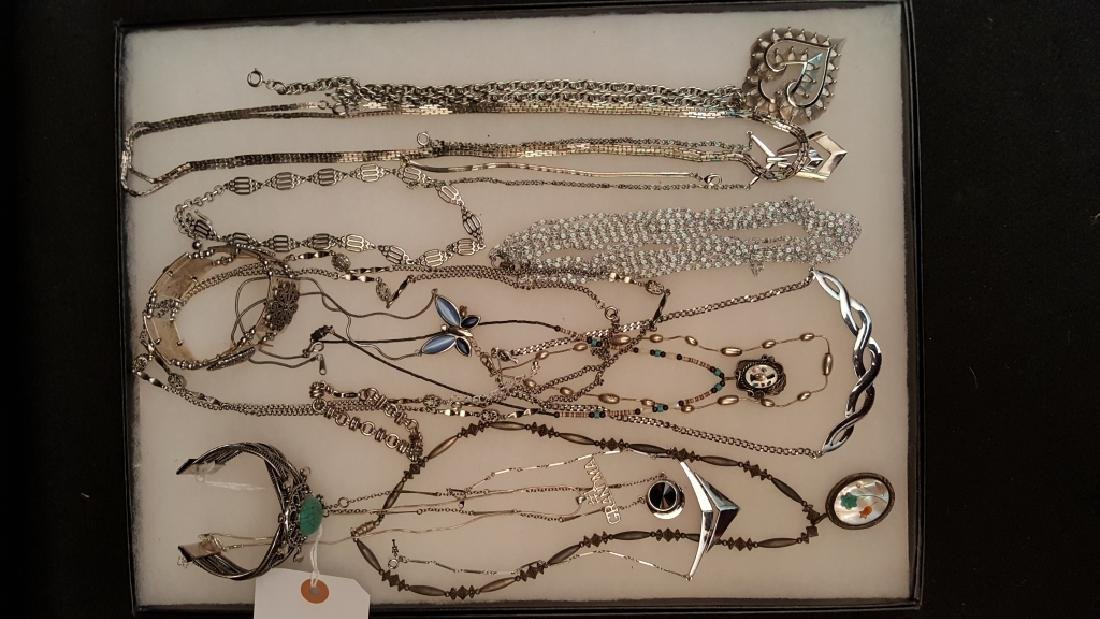 Silver Tone Costume Jewelry Collection