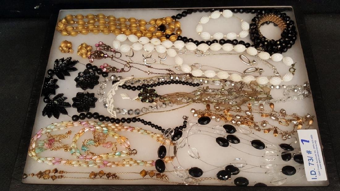 Beaded, Silver Tone, and Gold Tone Jewelry Sets