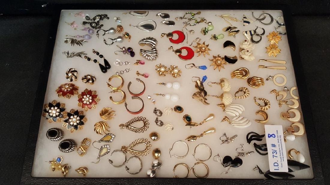Designer Enamel and Metal Earrings