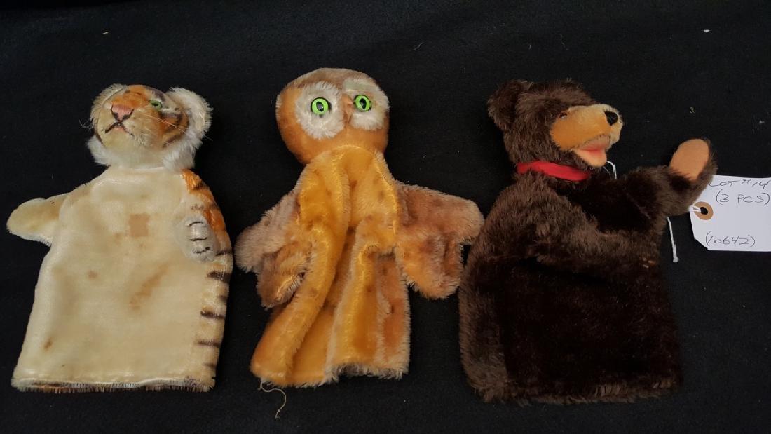 3 Vintage Steiff Hand Puppets