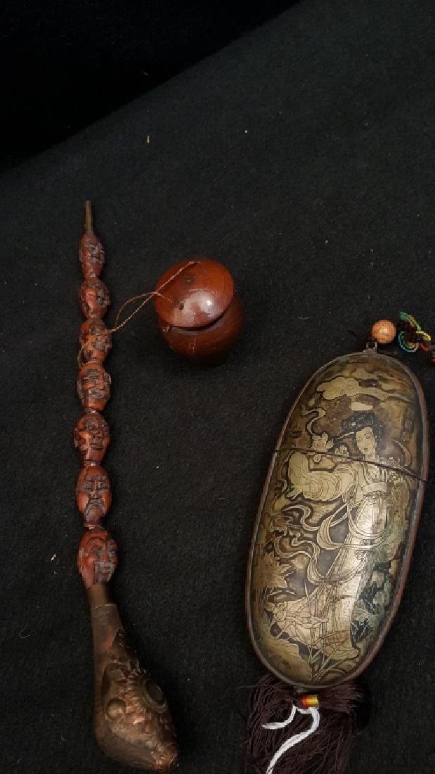 Opium pipe and Asian Opium container