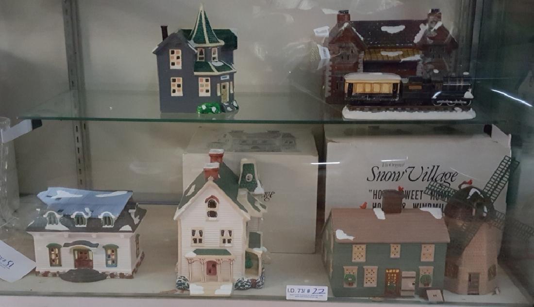 (5) Department 56; 1986 The Original Snow Village