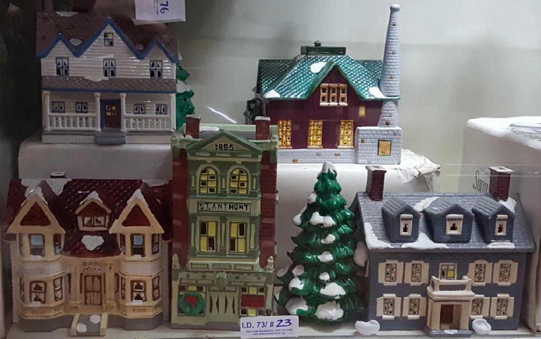 (5) Department 56; 1987 The Original Snow Village