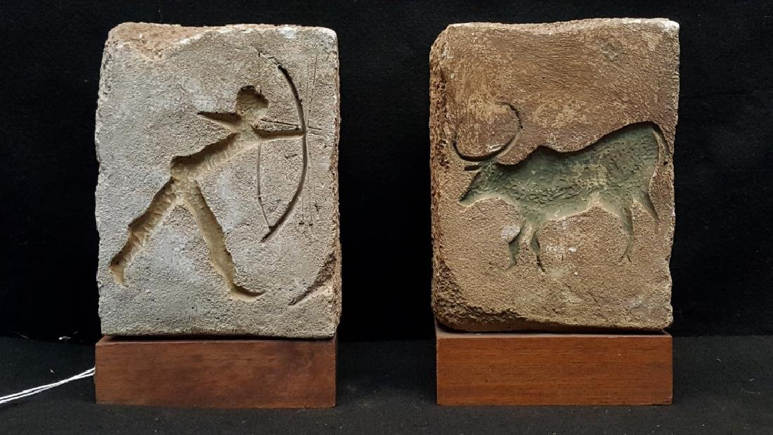 Modern Wood & Stone Hunting Bookends