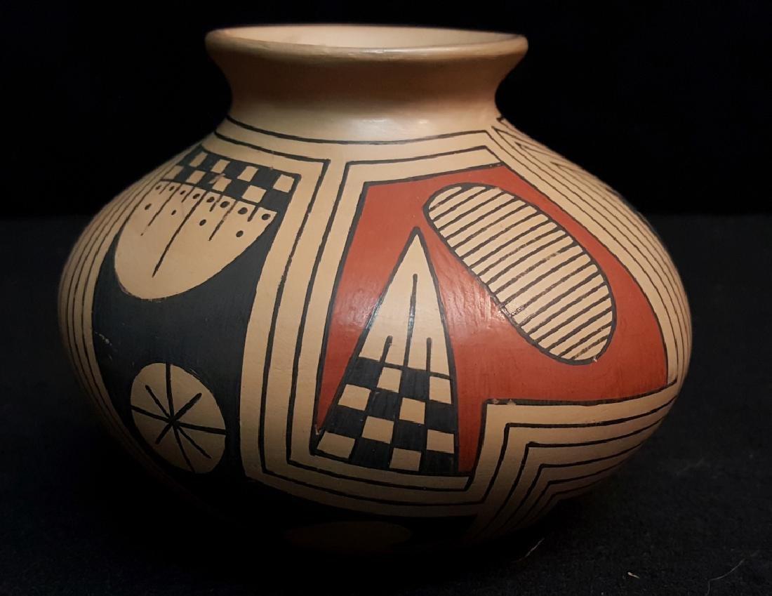 1960's Quezada Polychrome Pottery  Jar