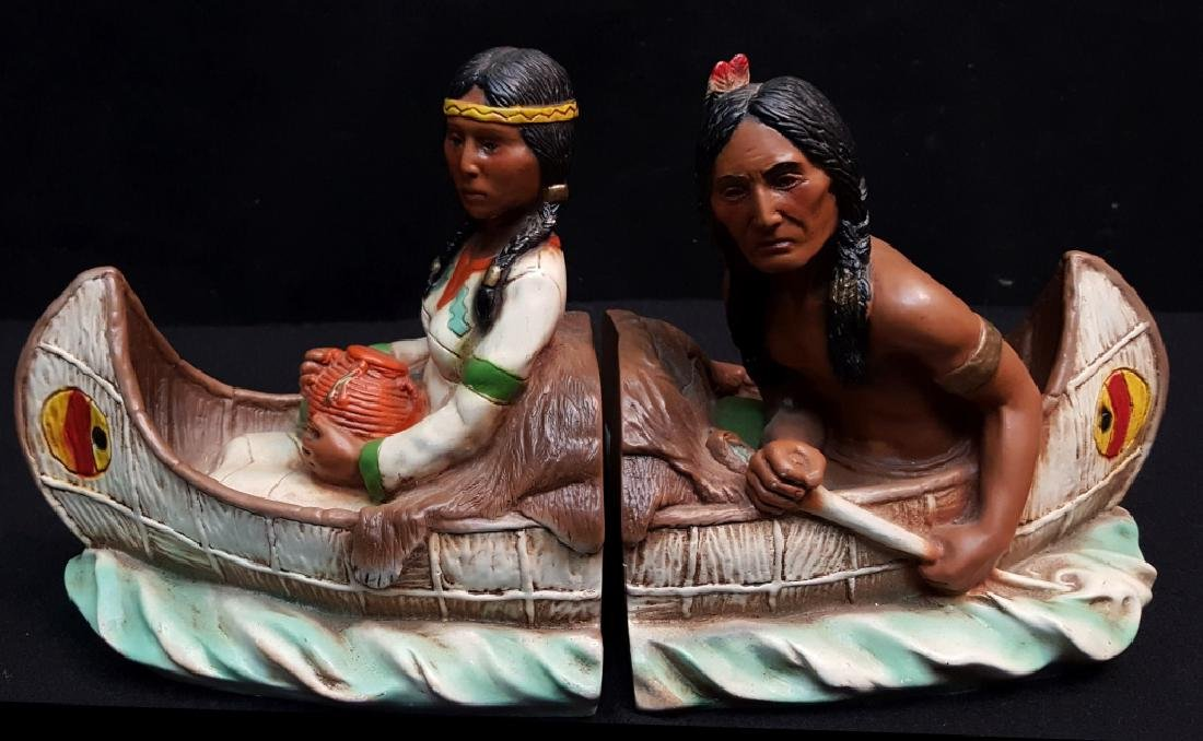 Universal Statuary Corp Native American Bookends