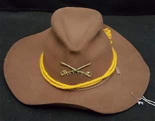 Brown Civil War Calvary Reenactment Slouch Hat