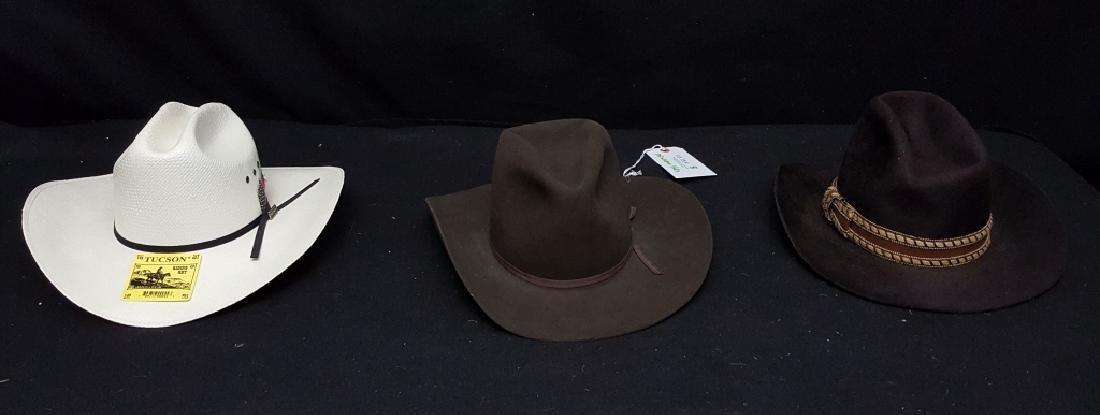 (3) Western Cowboy / Riding Hats