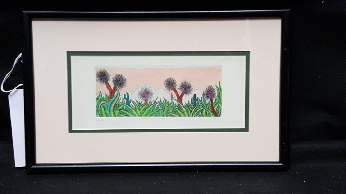 Alp Olberker Pencil Signed Colored Etching