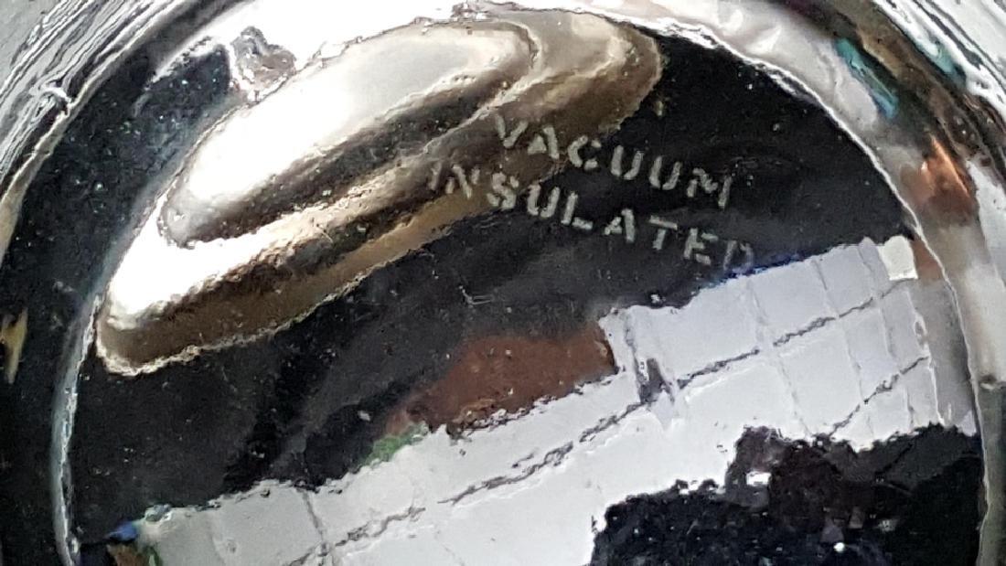 Silver on Copper Ice Bucket & Flask - 2