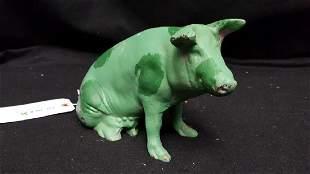 Vintage Cast Iron Pig Bank