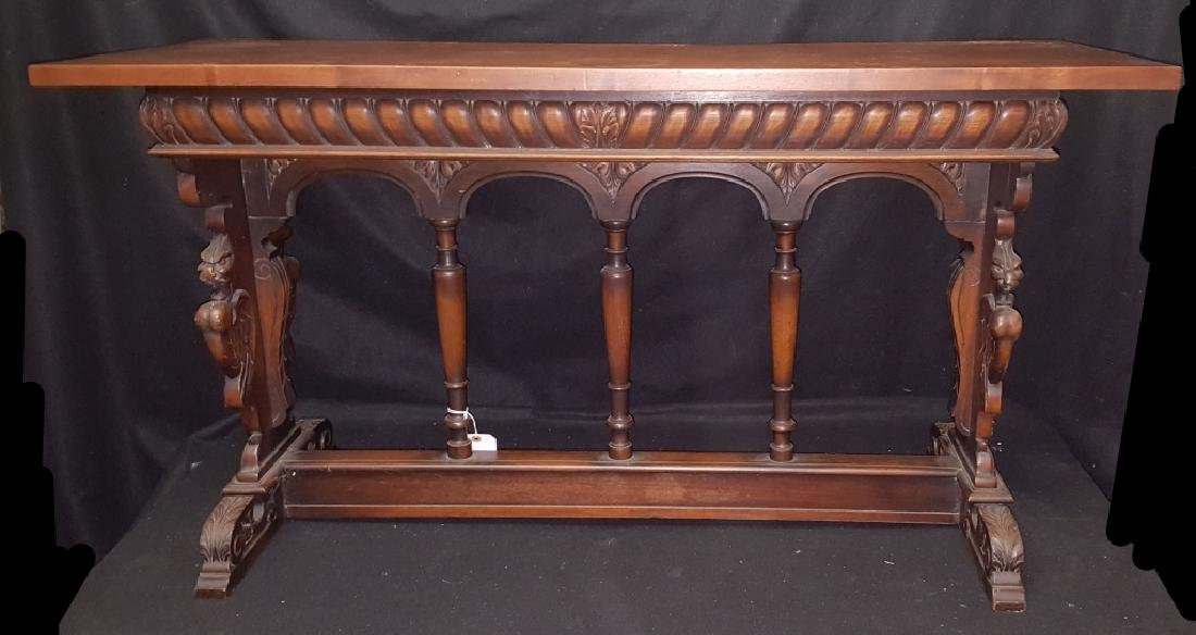 French Renaissance Style Console / Library Table