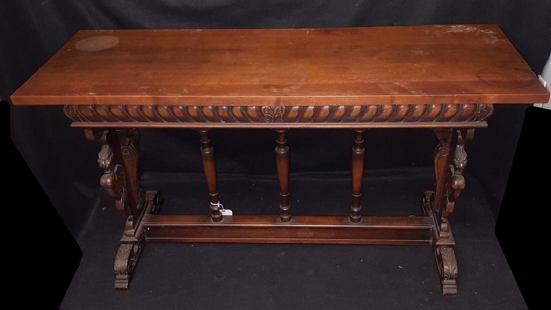 French Renaissance Style Console / Library Table - 2