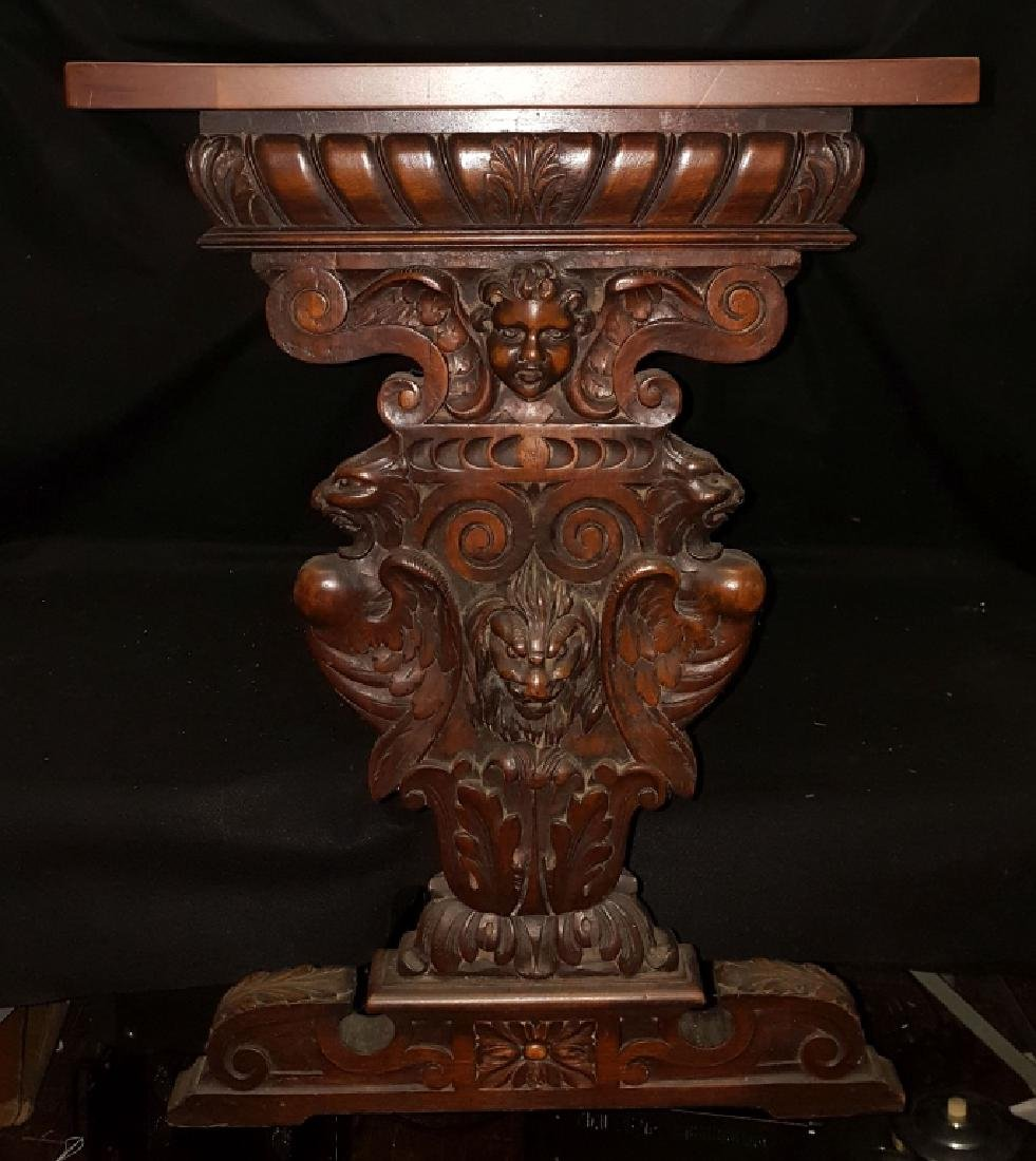French Renaissance Style Console / Library Table - 4