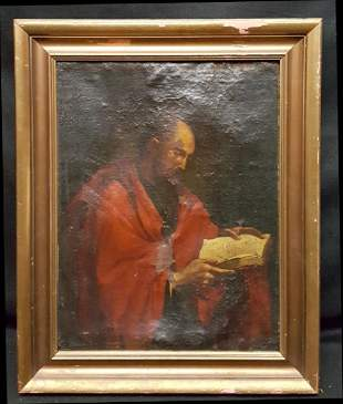 Early Oil on Canvas of a Religious or Noble Man