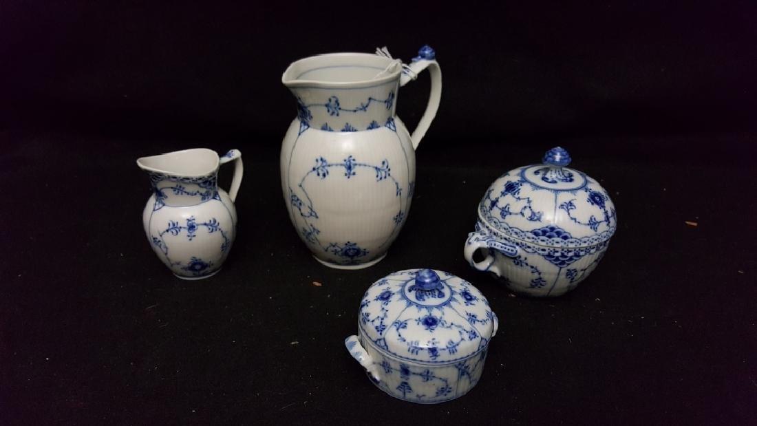4 Piece Royal Copenhagen Blue & White Porcelain