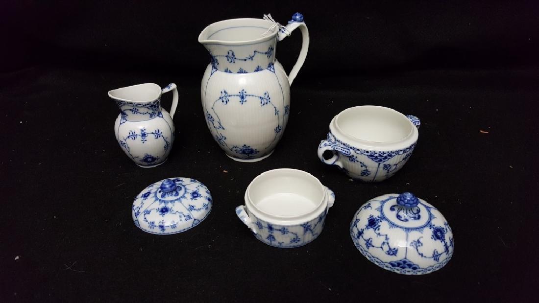 4 Piece Royal Copenhagen Blue & White Porcelain - 2